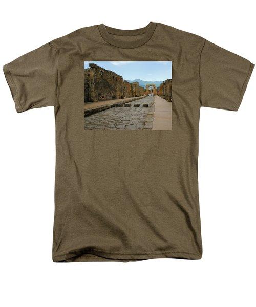 Roman Street In Pompeii Men's T-Shirt  (Regular Fit) by Alan Toepfer