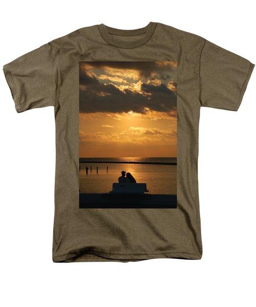 Romantic Sunrise Men's T-Shirt  (Regular Fit) by Leticia Latocki