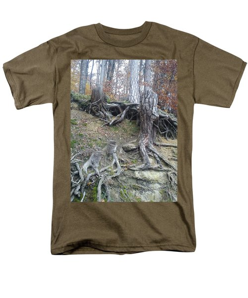 Men's T-Shirt  (Regular Fit) featuring the painting Roots by Felicia Tica
