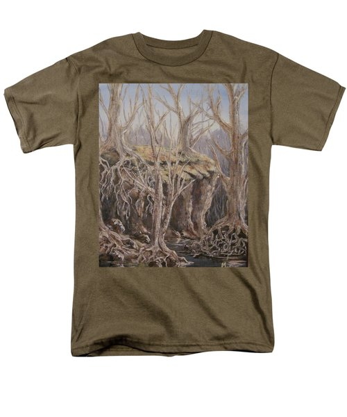 Men's T-Shirt  (Regular Fit) featuring the painting Roots by Megan Walsh
