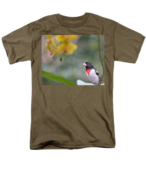 Rose Breasted Grosbeak Photo Men's T-Shirt  (Regular Fit) by Luana K Perez