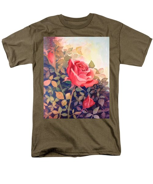 Rose On A Warm Day Men's T-Shirt  (Regular Fit) by Marilyn Jacobson