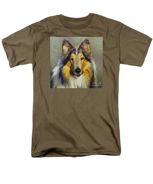 Rough Collie Men's T-Shirt  (Regular Fit) by Dragica  Micki Fortuna