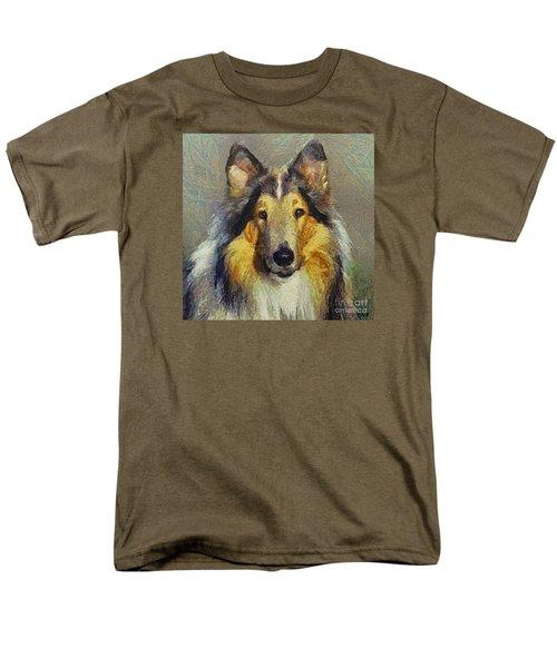 Rough Collie Men's T-Shirt  (Regular Fit)