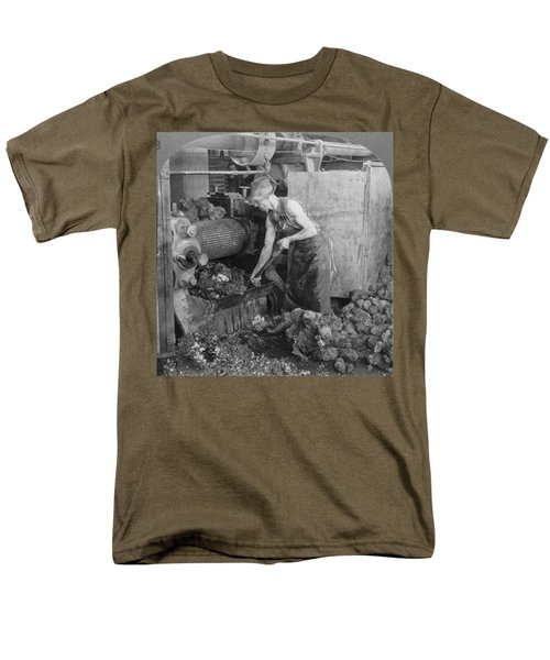 Men's T-Shirt  (Regular Fit) featuring the painting Rubber Production, C1928 by Granger