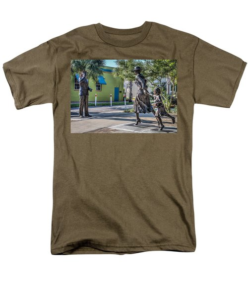 Running For The Train Men's T-Shirt  (Regular Fit) by Jane Luxton