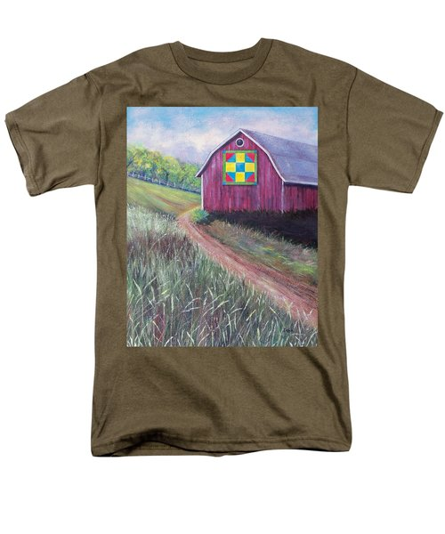 Men's T-Shirt  (Regular Fit) featuring the painting Rural America's Gift by Susan DeLain