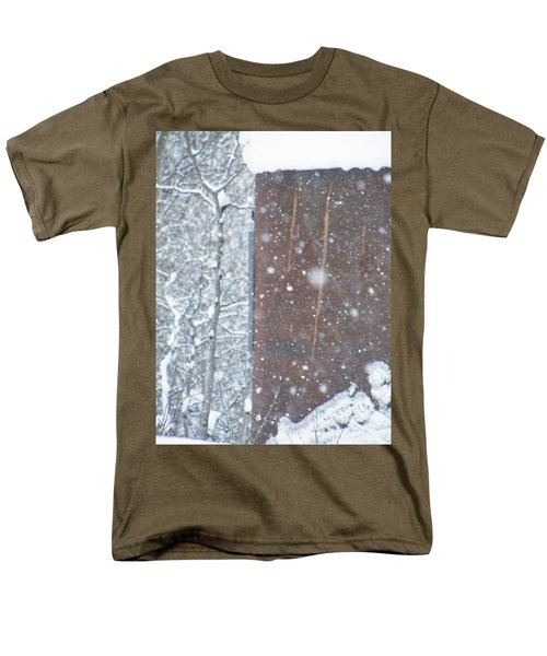 Rust Not Sleeping In The Snow Men's T-Shirt  (Regular Fit) by Brian Boyle