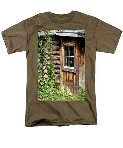Rustic Cabin Window Men's T-Shirt  (Regular Fit) by Athena Mckinzie
