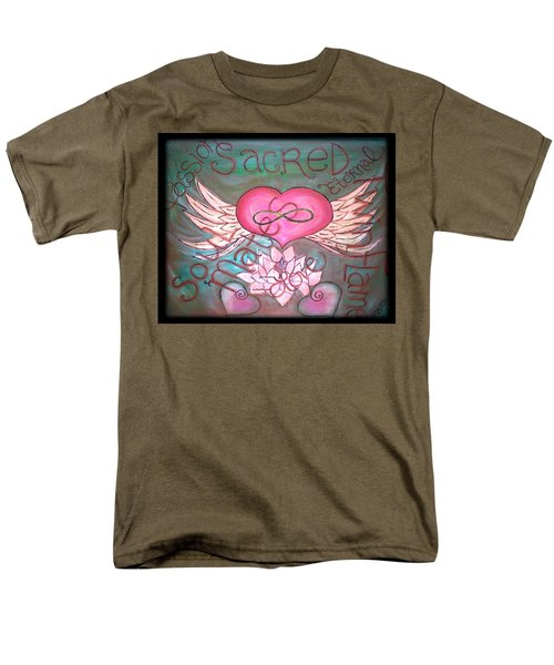 Sacred Soulmates And Twin Flames Men's T-Shirt  (Regular Fit) by Absinthe Art By Michelle LeAnn Scott