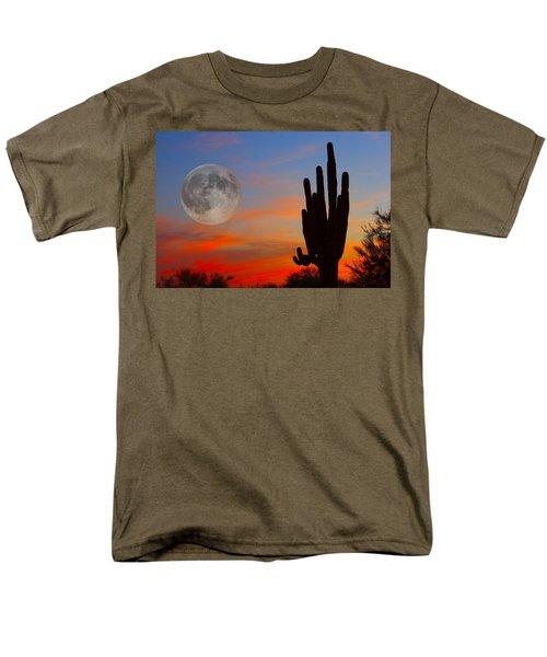 Saguaro Full Moon Sunset Men's T-Shirt  (Regular Fit)