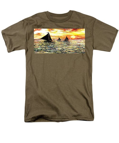 Men's T-Shirt  (Regular Fit) featuring the painting Sail Away With Me by Shana Rowe Jackson