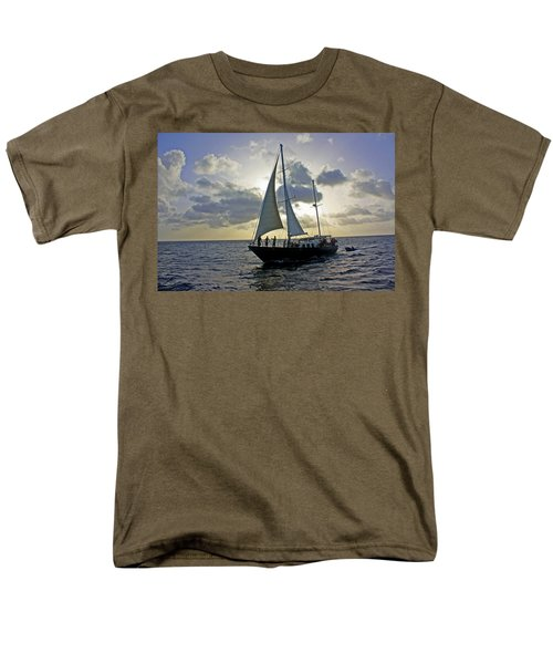 Men's T-Shirt  (Regular Fit) featuring the photograph Sailing In Aruba by Suzanne Stout