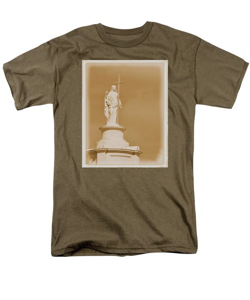 Men's T-Shirt  (Regular Fit) featuring the photograph Saint With A Cross by Nadalyn Larsen