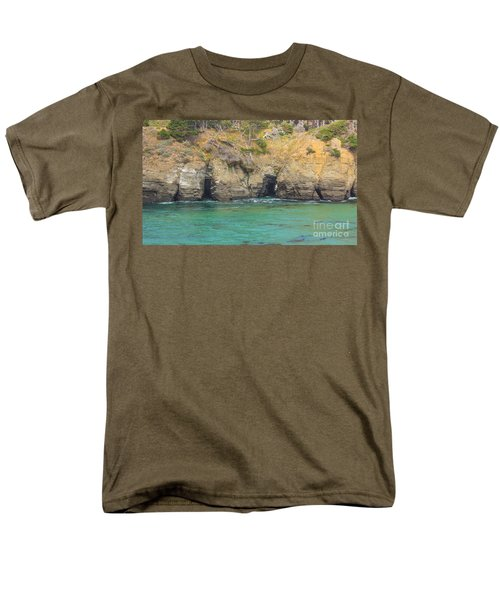 Salt Point Sea Caves Men's T-Shirt  (Regular Fit) by Suzanne Luft