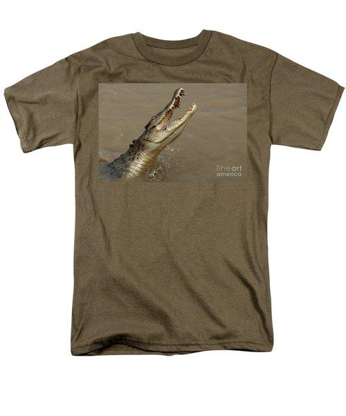 Salt Water Crocodile Australia Men's T-Shirt  (Regular Fit) by Bob Christopher