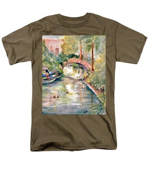 San Antonio Riverwalk Men's T-Shirt  (Regular Fit) by Marilyn Smith