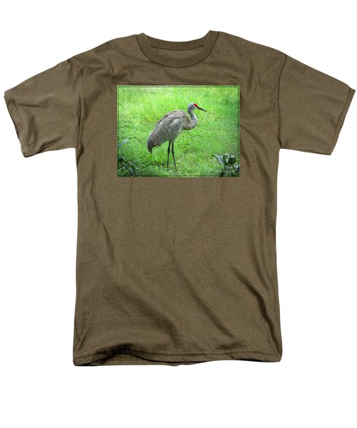 Men's T-Shirt  (Regular Fit) featuring the photograph Sandhill Crane - Bird Photography by Ella Kaye Dickey