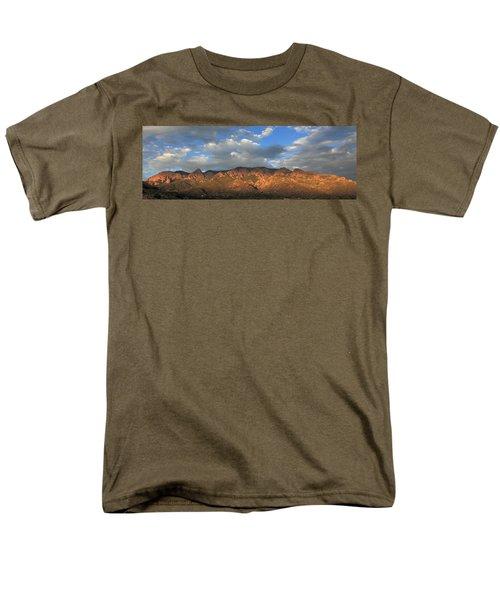 Sandia Crest At Sunset Men's T-Shirt  (Regular Fit) by Alan Vance Ley