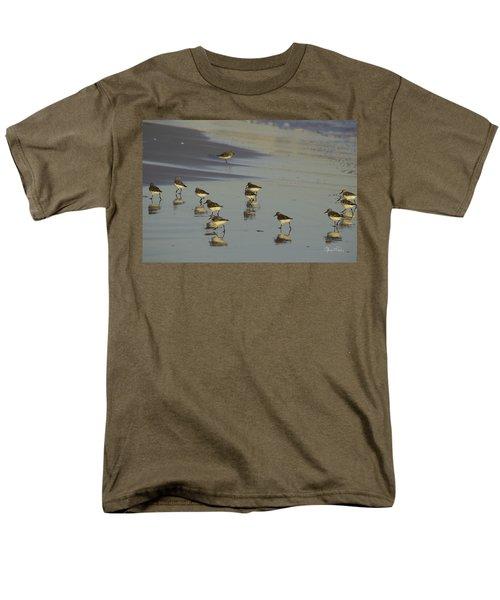 Sandpiper Sunset Reflection Men's T-Shirt  (Regular Fit) by Susan Molnar