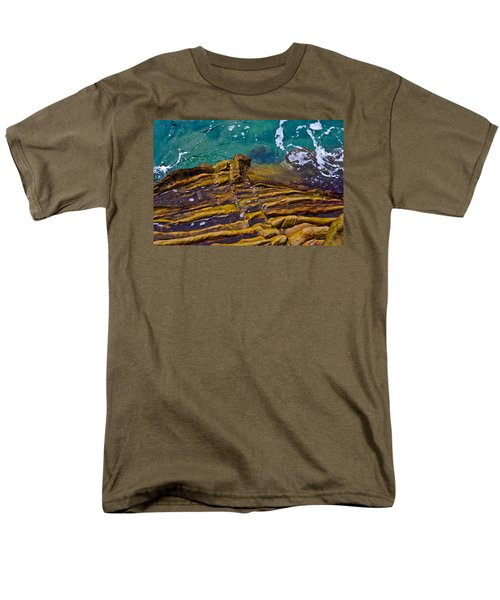 Sandstone Ribs Men's T-Shirt  (Regular Fit) by Adria Trail