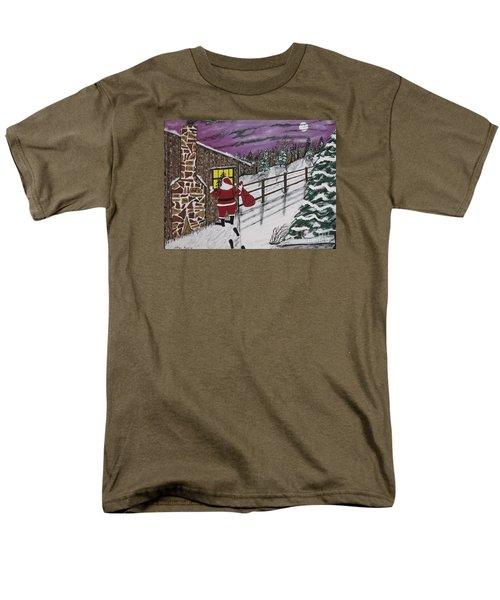 Santa Claus Is Watching Men's T-Shirt  (Regular Fit) by Jeffrey Koss