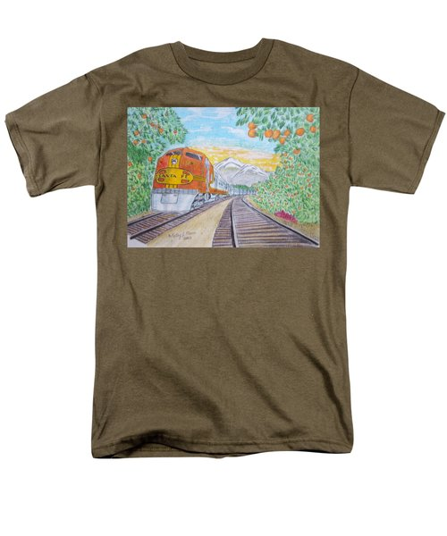 Santa Fe Super Chief Train Men's T-Shirt  (Regular Fit) by Kathy Marrs Chandler