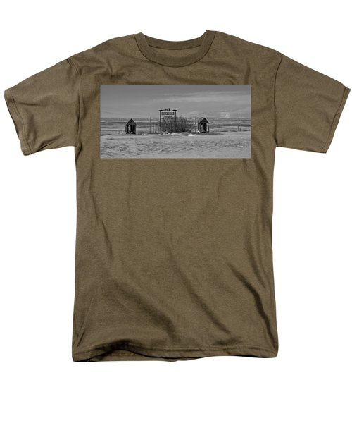 Men's T-Shirt  (Regular Fit) featuring the photograph Savageton Cemetery  Wyoming by Cathy Anderson