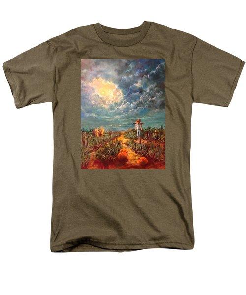 Scarecrow Moon Pumpkins And Mystery Men's T-Shirt  (Regular Fit)