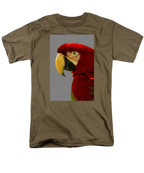 Scarlet Macaw Men's T-Shirt  (Regular Fit) by Bill Barber