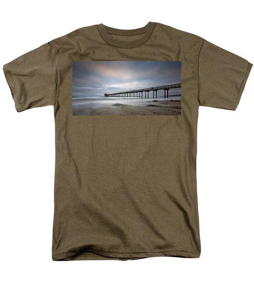 Scripps Pier Wide -lrg Print Men's T-Shirt  (Regular Fit) by Peter Tellone