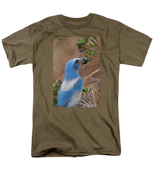 Men's T-Shirt  (Regular Fit) featuring the photograph Scrub Jay With Acorn by Paul Rebmann