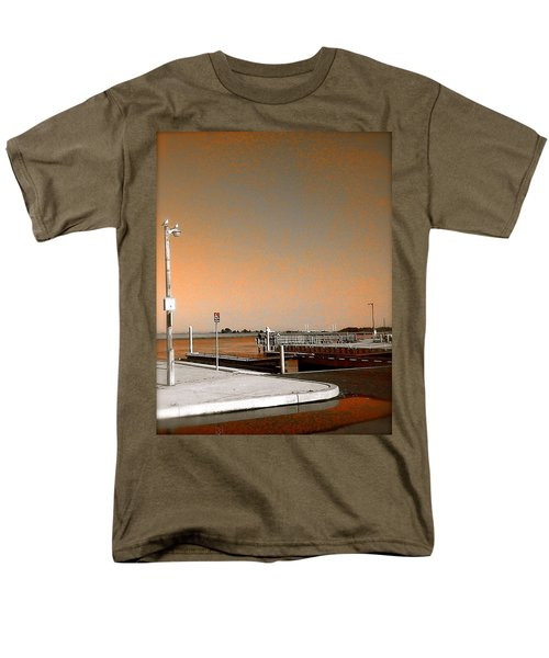 Sea Gulls Watching Over The Wetlands In Orange Men's T-Shirt  (Regular Fit) by Amazing Photographs AKA Christian Wilson