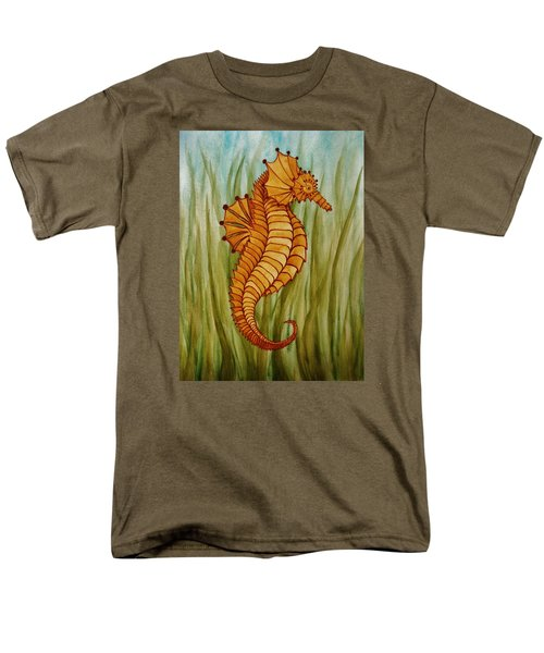 Men's T-Shirt  (Regular Fit) featuring the painting Sea Horse by Katherine Young-Beck