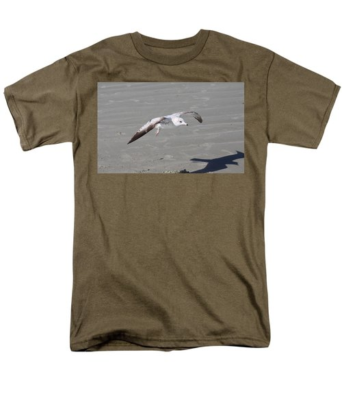 Men's T-Shirt  (Regular Fit) featuring the pyrography Seagull by Chris Thomas