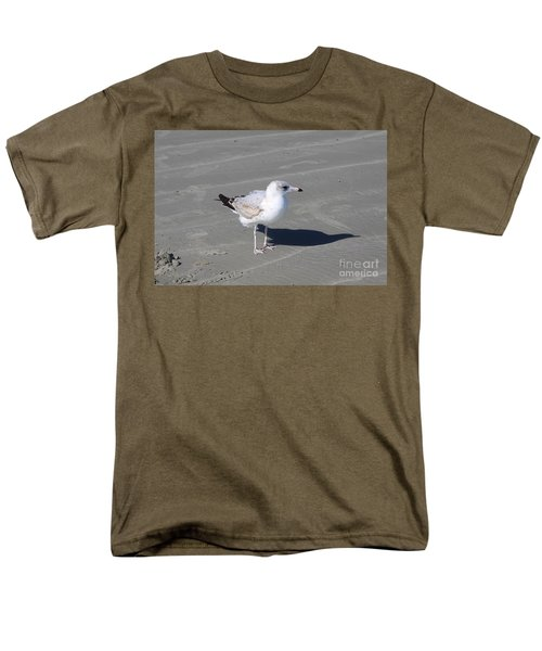 Men's T-Shirt  (Regular Fit) featuring the pyrography Seagull On The Hunt by Chris Thomas