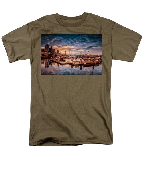 Seattle Marinescape. Men's T-Shirt  (Regular Fit) by Eti Reid