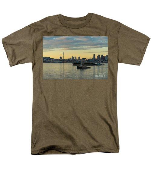 Seattles Working Harbor Men's T-Shirt  (Regular Fit) by Mike Reid