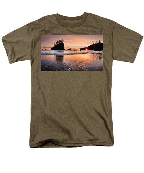Second Beach Sunset Men's T-Shirt  (Regular Fit) by Leland D Howard