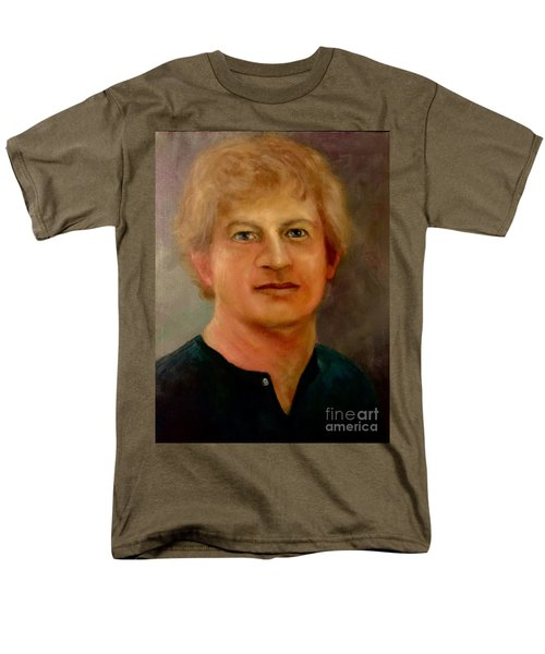 Men's T-Shirt  (Regular Fit) featuring the painting Self Portrait by Randol Burns