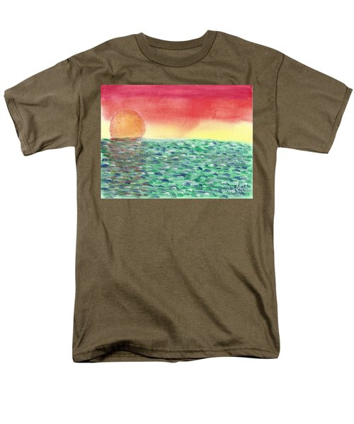 Men's T-Shirt  (Regular Fit) featuring the painting Setting Sea by John Williams