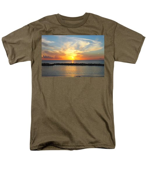Men's T-Shirt  (Regular Fit) featuring the photograph Seven Mile Sunset Over Grand Cayman by Amy McDaniel