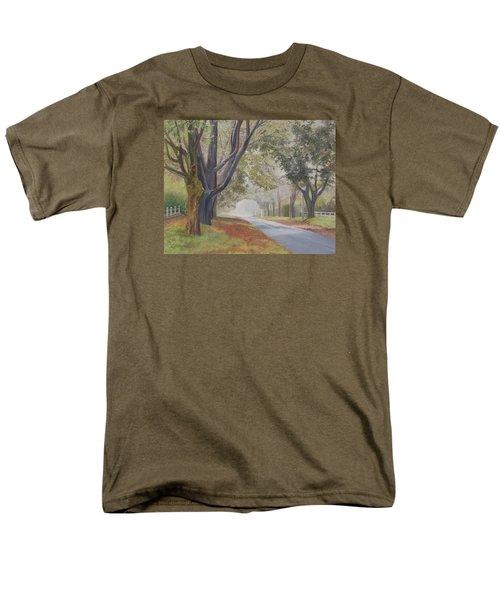 Shadow And Fog Down Beautiful Atlantic Avenue Men's T-Shirt  (Regular Fit) by Barbara Barber