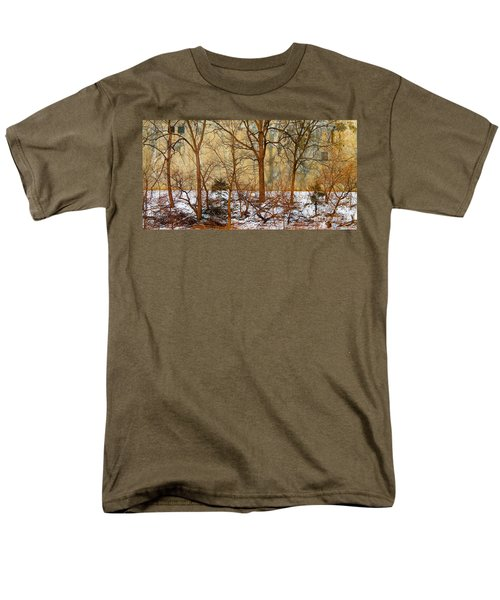 Men's T-Shirt  (Regular Fit) featuring the photograph Shadows In The Urban Jungle by Nina Silver