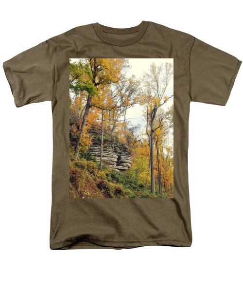 Men's T-Shirt  (Regular Fit) featuring the photograph Shawee Bluff In Fall by Marty Koch