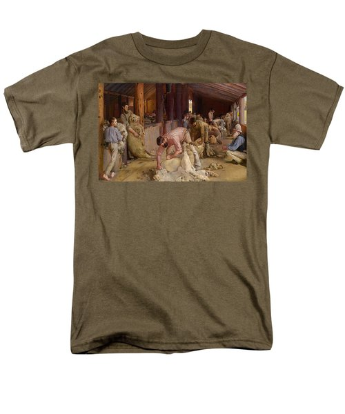 Shearing The Rams  Men's T-Shirt  (Regular Fit) by Tom Roberts