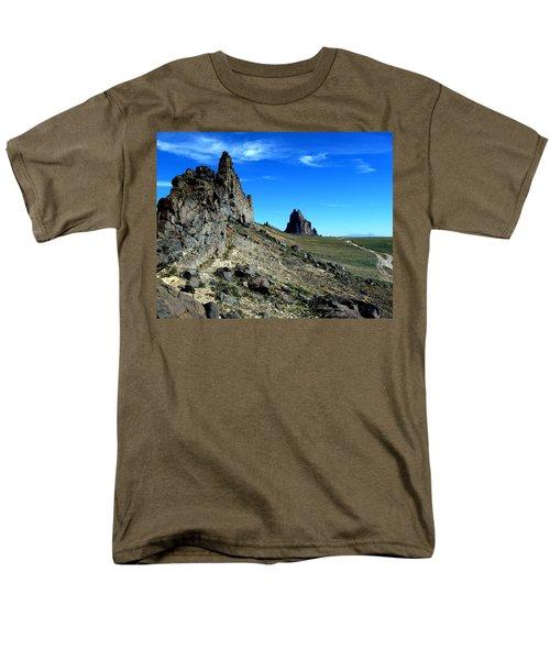 Men's T-Shirt  (Regular Fit) featuring the photograph Shiprock by Alan Socolik