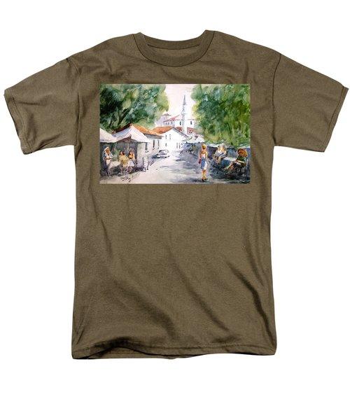 Men's T-Shirt  (Regular Fit) featuring the painting Siesta In Bozcaada... by Faruk Koksal