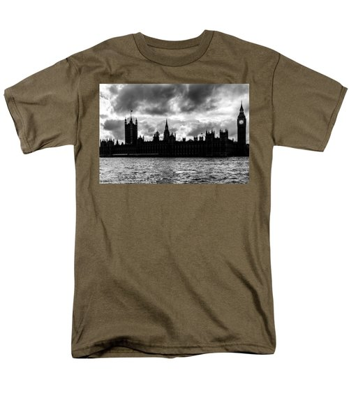 Silhouette Of  Palace Of Westminster And The Big Ben Men's T-Shirt  (Regular Fit) by Semmick Photo