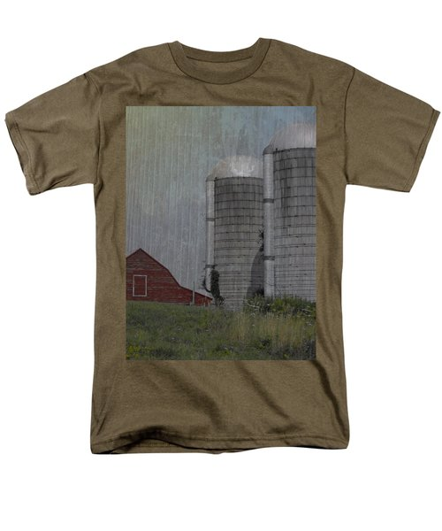 Silo And Barn Men's T-Shirt  (Regular Fit) by Photographic Arts And Design Studio